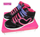 Girls Pineapple Rollin Black High Top Boots / Trainers Lace Up UK13 Kids - UK5