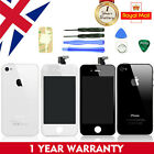 For iPhone 4 4S 5 5C 5S LCD Screen Digitizer Assembly Back Rear Case Cover UK