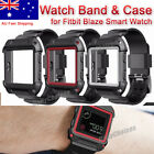 Rugged Protective Case With Silicone Wrist Strap Bands for Fitbit Blaze Watch AU
