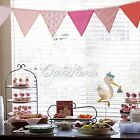 New 2.4m Handmade Double Side Fabric Flags Bunting Banner Party Wedding Decor