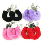 Soft Metal Adult Stylish Hen Night Party Game Sexy Gift Furry Fuzzy Handcuffs