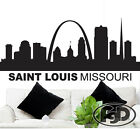 """Wall Decal Sticker Saint Louis Skyline 23"""" Tall 50"""" Wide in White or Black"""