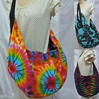Thai Tie Dye Indie Hippie BOHO Cotton Shoulder Cross body Bag Yaam Thailand