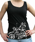 Biker Harley On Hip Print Women's Soft-Style Scoop Neck Vest Sm - 2XL