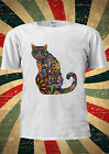 Floral Cat Cute Blogger Instagram Tumblr Fashion T Shirt Men Women Unisex 1686