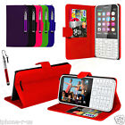 9 Colour Stand Wallet Flip Mobile Phone Case Cover For Nokia 225 And Stylus Pen