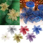 New Christmas Flowers Xmas Tree Decorations Glitter For Wedding Party Adornment