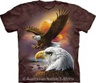 Eagle & Clouds Mens Tie Dye Animal T-Shirt by The Mountain T-Shirts - BRAND NEW!