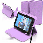 Bling Universal Leather Stand Folding Folio Case Cover For 7 & 8 Inch TabletsTab