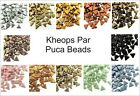 Czech Kheops Puca Beads 6mm 2-hole Flat Triangle 9g (aprx 60 beads) Choose Color