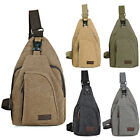 Men's Canvas Messenger Backpack Crossbody Casual Chest Pack Bag