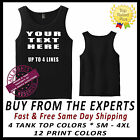 Custom T shirt Tank Top Your Text  Personalized TOP QUALITY SHIRT & PRINTING