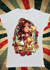Disney Princess Belle Bella Beauty And Beast Women T-Shirt Vest Tank Top W136