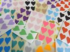 22x20mm Heart Shaped Colour Code Labels, Coloured Sticky Self-Adhesive Stickers