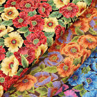 Japanese Print Cotton Fabric FQ Oriental Floral Asian Retro Dress Quilting VJ16
