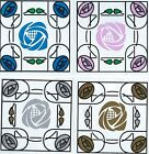Art Nouveau Charles Rennie MacKintosh Reusable Window Decoration Sticker Clings