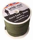 Web-tex Tough Paracord Reel Military Rope Para Cord Hammock Tent Army Camping