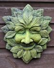 WISE GREEN MAN large DECORATIVE WALL PLAQUE GREENMAN FROSTPROOF STONE