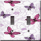 Light Switch Plate Cover - Butterflies peonies garden - Insects butterfly flower