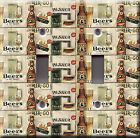 Light Switch Plate Cover - Beer bottle rustic theme - Bar room decor drink label