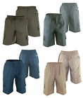 Mens Extra Large Polycotton Elasticated Waist Long Cargo Shorts Big Size 1XL-4XL
