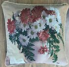 """Tapestry Cushion Covers in 3 fabulous Floral designs,18""""x18"""",also filled cushion"""