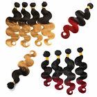 US Local Lady Ombre Hair Weft Virgin Brizilian Human Hair Extensions 3 Bubdle 6A
