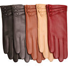 2015 Ladies' real nappa Leather w/three buttons on each glove 5 colors L003NC