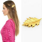 Vtg Lady Leaf Stud Hair Barrette Clips Headpiece Party Cocktail Beach Hairpin C