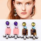 Womens Colorful Crystal Dangle Drop Eve Formal Wedding Cocktail Party Earrings C