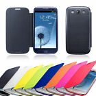 Slim Flip Leather Hard Case Cover Skin For Samsung Galaxy Note 2 II S3 III S4 IV