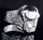 925 STERLING SILVER PISTON WING LIVE TO RIDE BIKER RING US sz 7 to 15