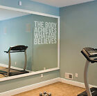 Body & Mind Etch Effect Gym Decal for Glass or Mirrors Health Fitness Easy Apply