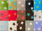 "Soft cuddle polar fleece fabric, stars, supersoft, crafts, blankets, 60"" wide"