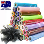 72cm x 27m Crystal Sheer Organza Fabric Tulle Roll Party Wedding Table Runner
