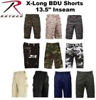 Solids & Camouflage Military Police X- Long BDU Shorts Fatigue Cargo Shorts