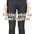 (Free shipping) Padded mink fur lined leggings / 2 colors / made in korea
