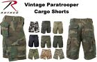 Solids & Camouflage Military Vintage Army Paratrooper Shorts Cargo Shorts