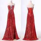 LONG Queen Split Evening LONG Prom Dress Masquerade Gowns Party Bridesmaid Dress