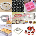 Cake Fondant Pastry Cookie Cutter Mould Slicer Plunger Baking Decorating Tools
