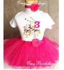Carousel Ride Horse Pony Pink 3rd Third Birthday Tutu Outfit Set Shirt Party