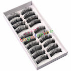 10 Pairs Soft False Eyelash Eyelashes Eye Lashes Makeup Long Thick New