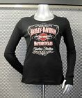 "RONNIE'S HARLEY-DAVIDSON WOMEN'S LONG SLEEVE T-SHIRT ""GLITTER LABEL"" #R1563"