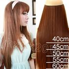 one piece 100% Real Human Hair Full Head Clip in Remy Hair Extensions 100G NEW