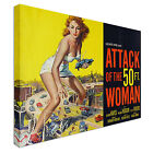 Attack of the 50ft Woman Canvas Art Cheap Wall Print Home Interior