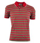 MOSCHINO Polo Shirt Rot Gestreift Red Striped Rouge 03340
