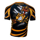 RASH GUARD EXTREME HOBBY SHORT SLEEVE WASP FOR TRAINING MMA, FIGHT,GYM !