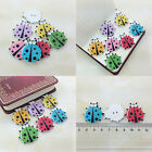 20/50/100Pcs Bulk Stylish Cute Ladybird Sewing Buttons Scrapbooking 2 Holes