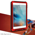 Shockproof Metal Gorilla Glass LOVE MEI Cover Case For iPad 6th/Air 2/Mini/Pro