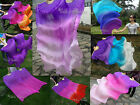 1 pair sturdy purple~various colors 1.5m*0.9m belly dance silk fan streamer+bag
